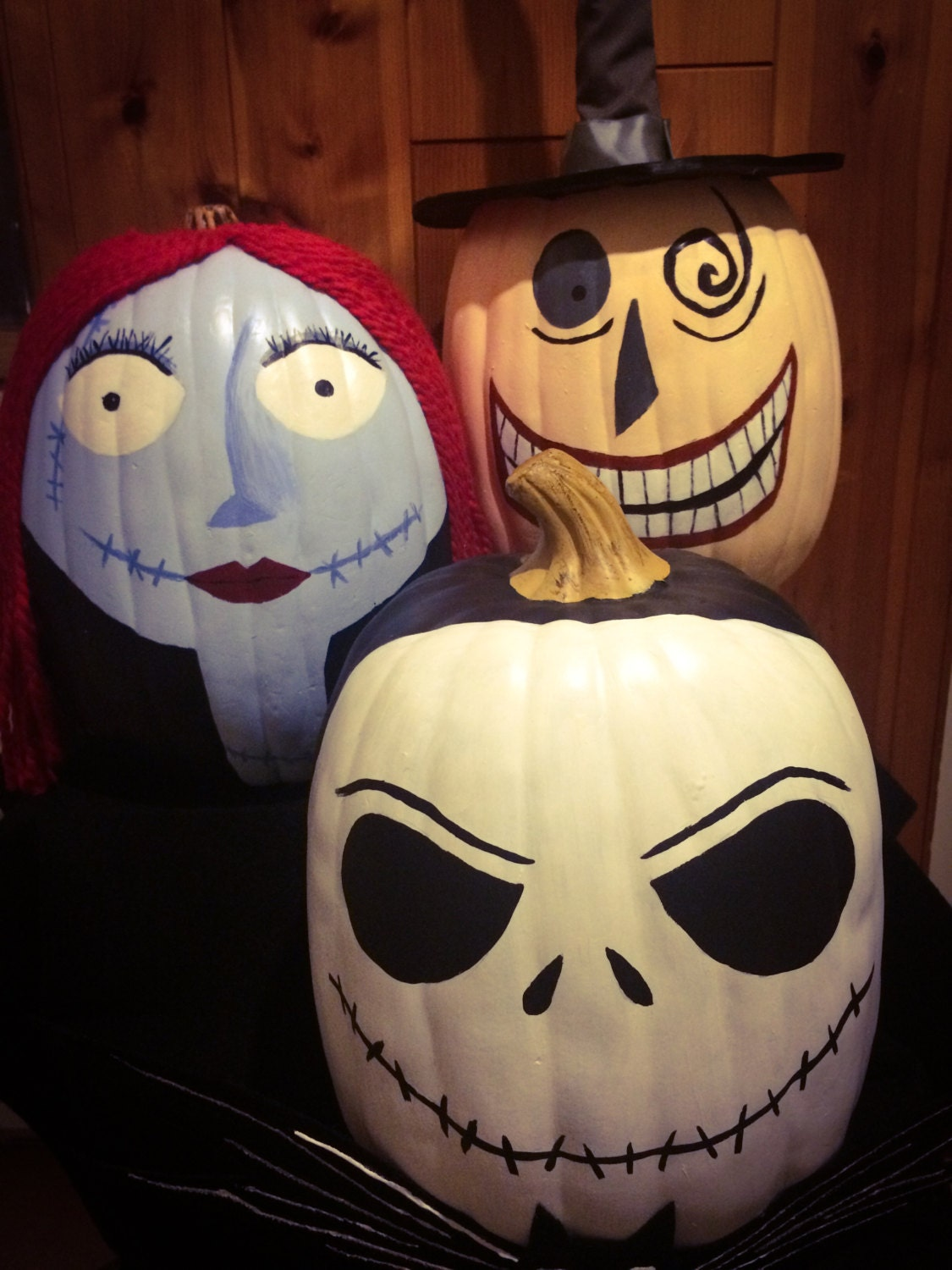 Nightmare Before Christmas Pumpkin Trio | Etsy