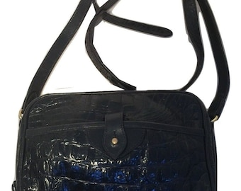 Joan & David Alligator Shoulder Bag
