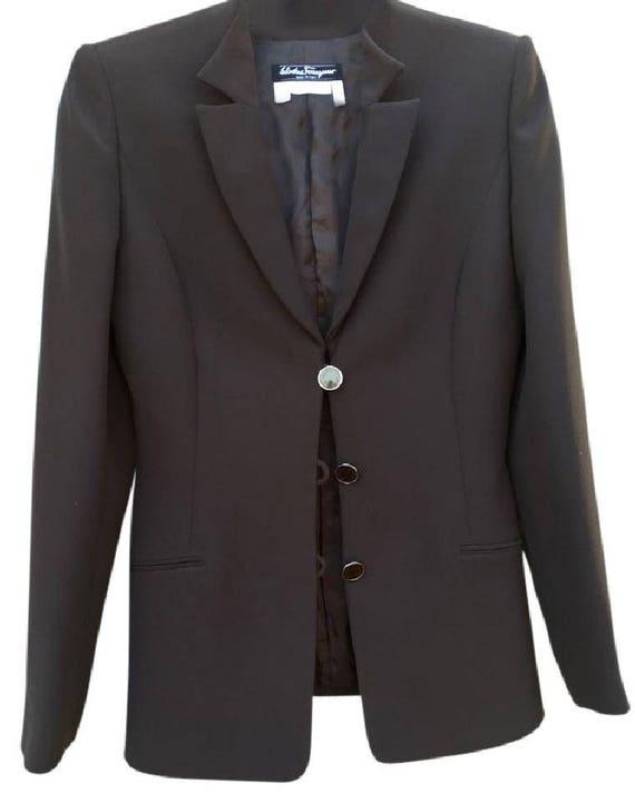 SALVATORE Ferragamo Dark Brown Women's Blazer Jack