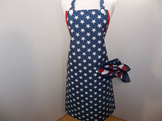 Red, White, And Blue Men's Apron