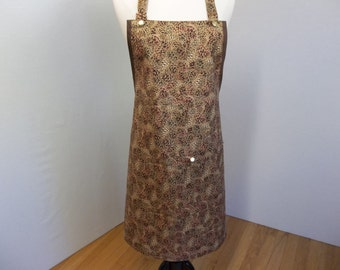Pinecone Print Full Hostess Apron