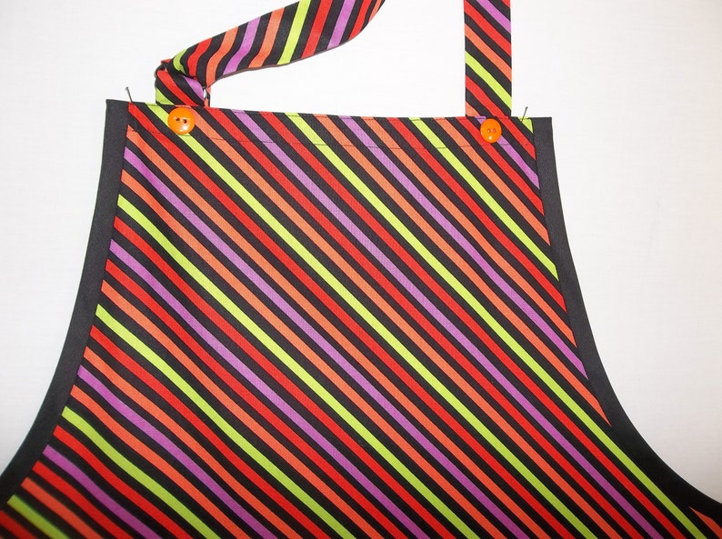 Neon Stripes All Purpose Apron