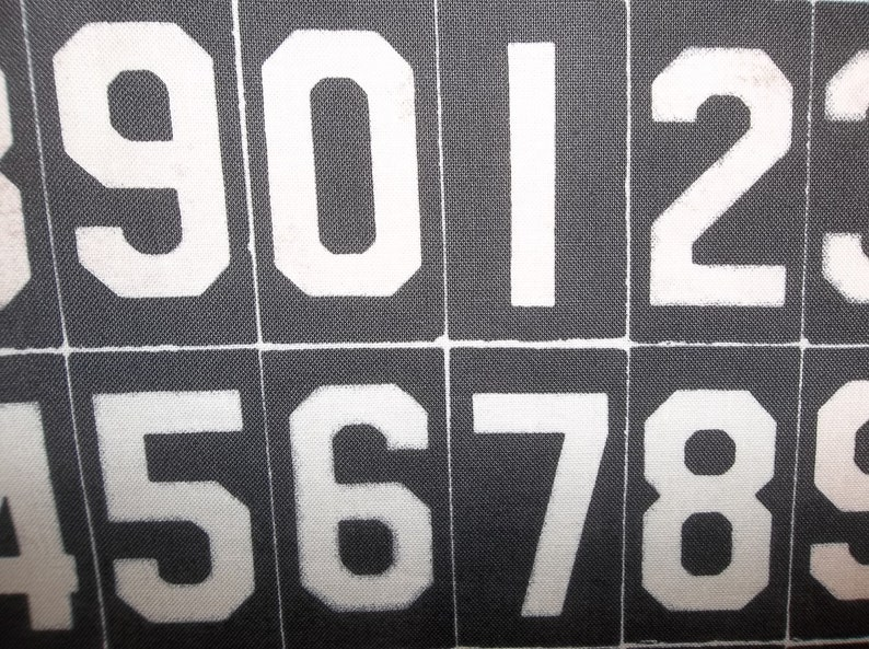 Black And White Numbers Apron