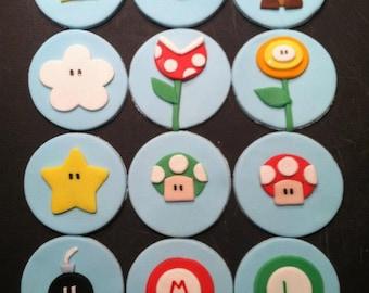 Super Mario Cupcake Topper