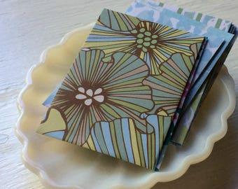 Blue and Green Mini Envelopes - Gift Card Envelopes - coin envelopes - guest book envlopes- pack of 10