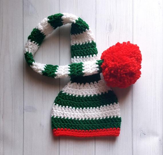 Häkeln Sie Baby Zipfelmütze Häkeln Baby Weihnachtsmütze Etsy