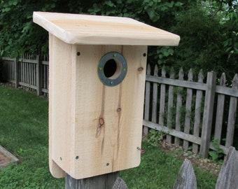White cedar Eastern Bluebird nest box