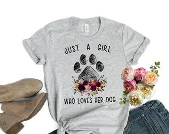 Womens Love Love Love Paws Tshirt Cute Dog Valentines Day Tee Dark Heather
