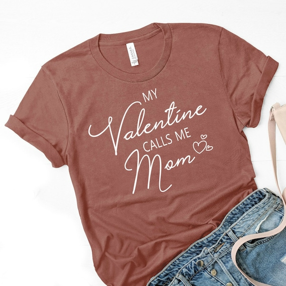 e1bb39ab0d3c7 Valentine Mom Shirt, Valentines Day Gift Ideas for Mom from Daughter or  Son. Mauve T Shirt for Women Ladies Boy Mom. Funny Cute Graphic Tees
