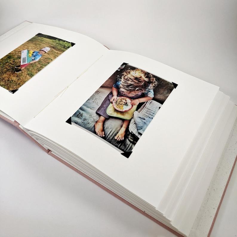 Natural Linen Square Photo Album for 4x6 Photos