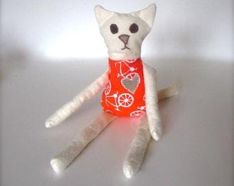 Eco Friendly Kids Gregory the Cat Soft Doll- All Natural Toy