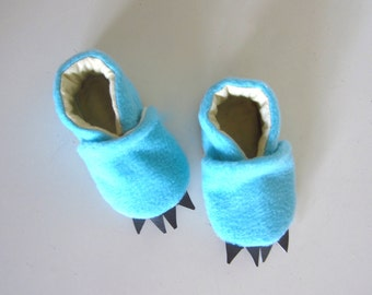 Monster Baby Shoes in Blue