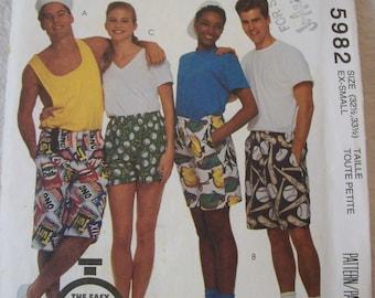 McCall's 5982, Boys Shorts, Girls Shorts