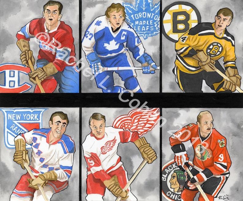 NHL Hockey Original Six Canadiens Maple Leafs Bruins Rangers  d357c63b2