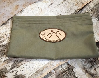 Native Survival Large Utility Pouch (Vintage OD Green)