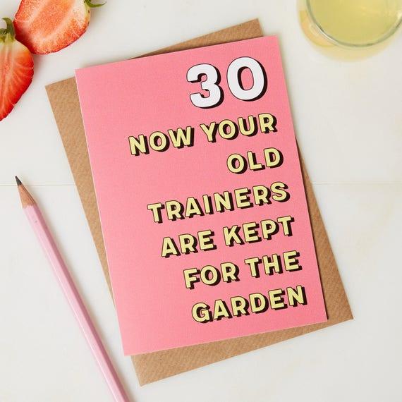 30th Birthday Card 30 Years