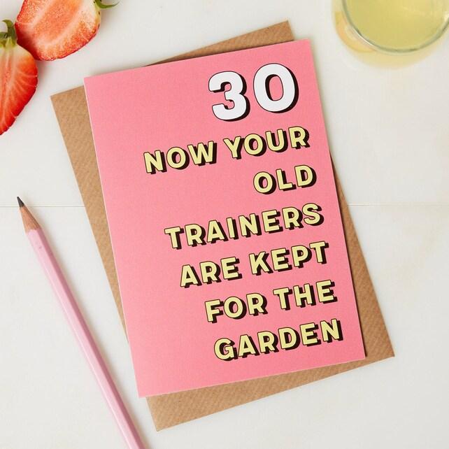 30th Birthday Card 30th Birthday Birthday Card 30 Years Etsy