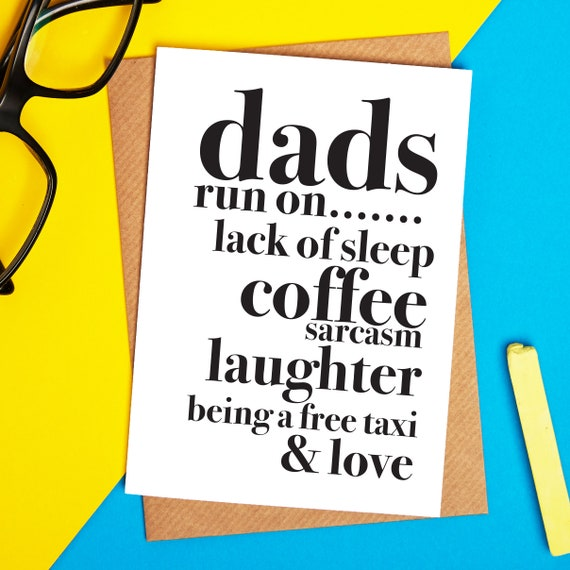 Dads Run On Card Birthday Funny Dad