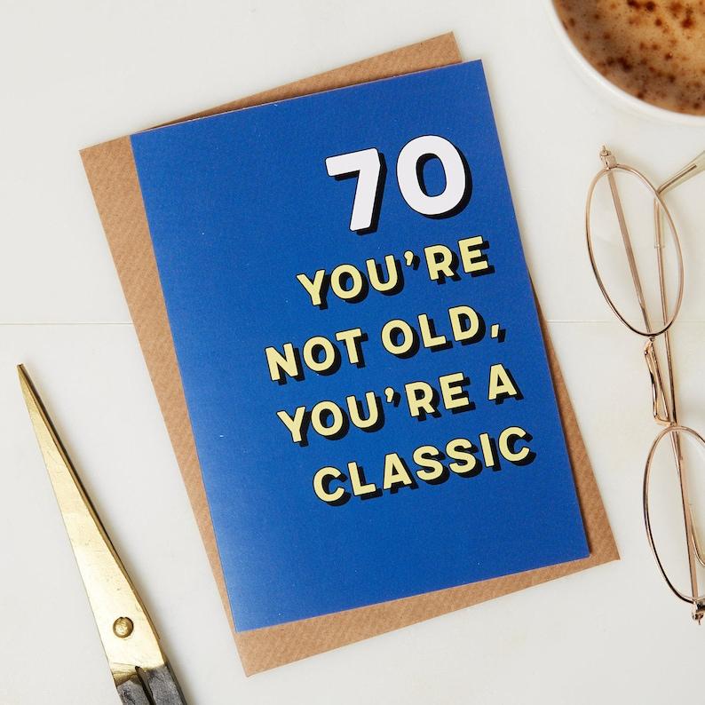 70th Birthday Card 70 Years
