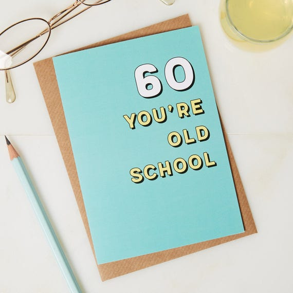60th Birthday Card 60 Years