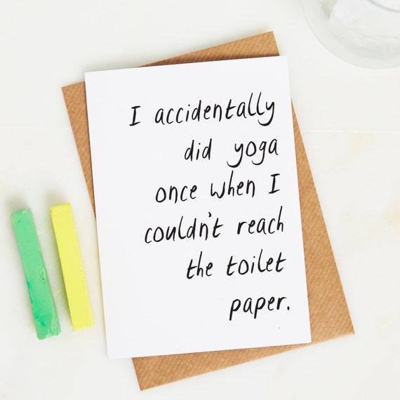 Lustige Geburtstagskarte Fur Sie Yoga Karte Geburtstag Etsy
