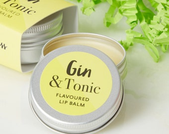 Gin and Tonic Lip Balm - Top Gin gifts - Lip Balm - Cocktail Lip Balm - G and T - Gin gift - Wedding favour - Hen party gift - mothers day