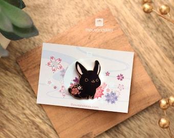 Black Rabbit Pin (Dark Bunny)
