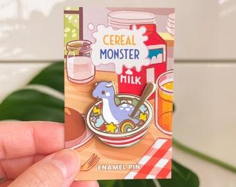 Enamel Pin - Monster Cereal Bowl - Blue Charm