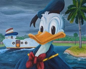 Donald Duck in Disney's Toontown | Original Painting | 16 x 20 in.