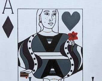 Queen of Aces | Original Painting | Ace Pride | 16 x 20 in.