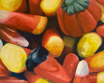 Candy Corn for Every Season -- Original Still-Life Painting