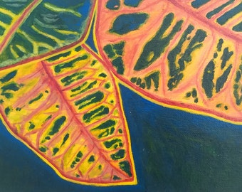 Cancún Leaves -- Original Abstract Painting