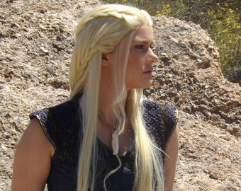 Lace Front Daenerys Braids Blonde Game Thrones Mother Dragons Wig