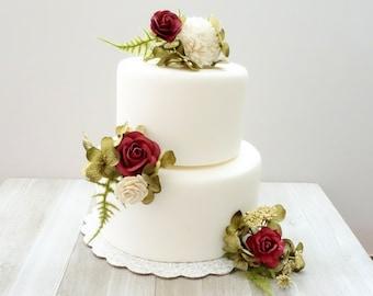Wedding Cake Flowers.Wedding Cake Flowers Etsy