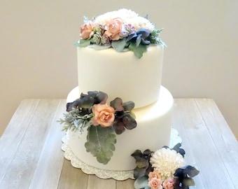 Wedding cake flowers | Etsy