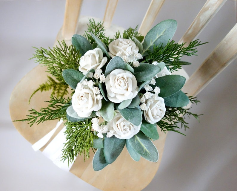 Boho Wedding Woodland Bouquet Destination Wedding Boho Bridal Bouquet Elopement Bouquet Greenery Bouquet Small Simple Wedding Bouquet