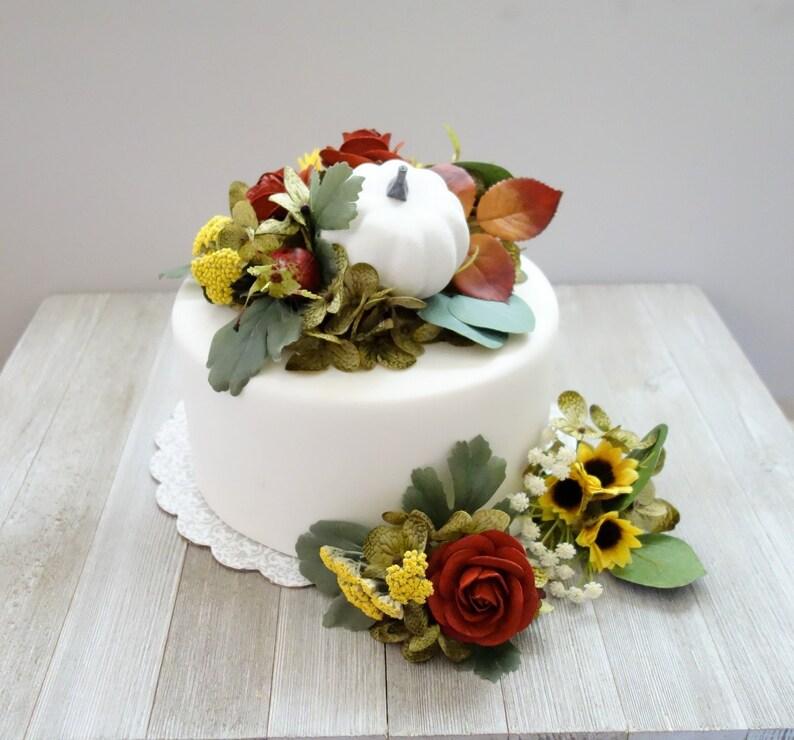Wedding Cake Topper Fall Cake Topper Pumpkin Cake Etsy