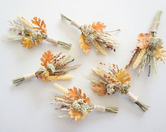 Rustic Fall Boutonniere, Dried Grass Boutonniere, Natural Boutonniere, Boho Wedding Bout, Boutineer, Dried Flower Lapel Pin Boutonniere