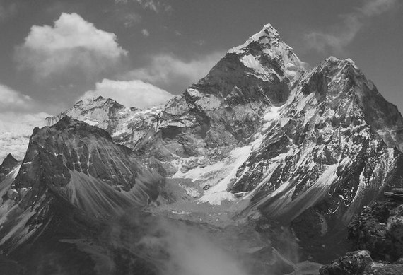 8 12 Black Himalaya Peaks Art Mountain Landscape Spring Decor Home PhotographyWall White X And Clouds TFlK1cJ
