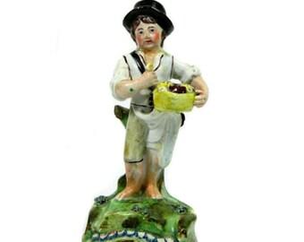 Early 19th Century John Walton Staffordshire Bread Seller Figure