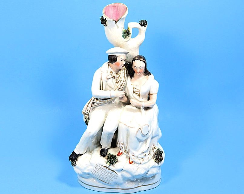Antique,Staffordshire,Thomas,Parr,Figurine,Spill,Vase,Robbie,Burns,and,Highland,Mary,Vintage,Collectibles,19th_c_staffordshire,burns_and_mary,burns_spill_vase,thomas_parr_figure,thomas_parr_vase,parr_spill_vase,parr_robert_burns,robert_burns_figure,highland_mary_figure,sweetwaters_antiques,highland_mary_poem,poet_figurine,staffordshire_bu