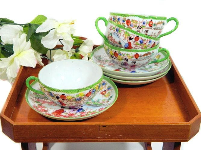 Four,Sets,Vintage,Japanese,Teacups,and,Saucers,Hand,Painted,Ladies,Lanterns,Scenic,Housewares,japanese_china,japanese_teacups,hand_painted_cups,geisha_teacups,japanese_scenic_cups,ladies_and_lanterns,japanese_lanterns,asian_eacups,asian_china_cups,vintage_asian_china,painted_teacups,asian_teacups