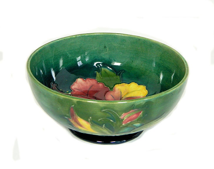 Moorcroft,Pottery,Hibiscus,Bowl,Arts,and,Crafts,moorcroft pottery hibiscus bowl, arts and crafts pottery
