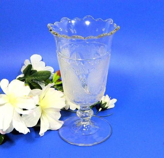 Antique,EAPG,Celery,Vase,Sprig,in,Snow,Pattern,Housewares,Serving,antique_celery_vase,pressed_glass_celery,EAPG_celery_vase,bryce_glass,19th_c_celery_vase,19th_c_pressed_glass,sweetwaters_antiques,sprig_in_snow,pattern_glass_celery,EAPG_pattern_glass,antique_glass