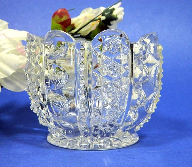 Antique,Westmoreland,EAPG,Columned,Thumbprint,Large,Open,Sugar,Bowl,westmoreland_glass,antique_glass,eapg_sugar_bowl,columned_thumbprint,pattern_glass_sugar,pressed_glass_sugar,antique_sugar_bowl,1900s_sugar_bowl,1900s_glass_bowl,1900s_eapg,1900s_pattern_glass,1900s_pressed_glass