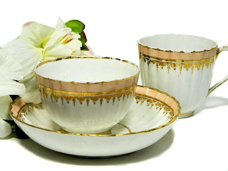 C.,1800,Antique,Derby,Porcelain,Trio,Cup,Saucer,Bowl,Housewares,derby_porcelain,derby_teacup,derby_bowl,18th_c_derby,1800_derby_cup,1800_derby_bowl,18th_c_english_cup,antique_derby_bowl,georgian_derby,georgian_teacup,georgian_porcelain,english_derby