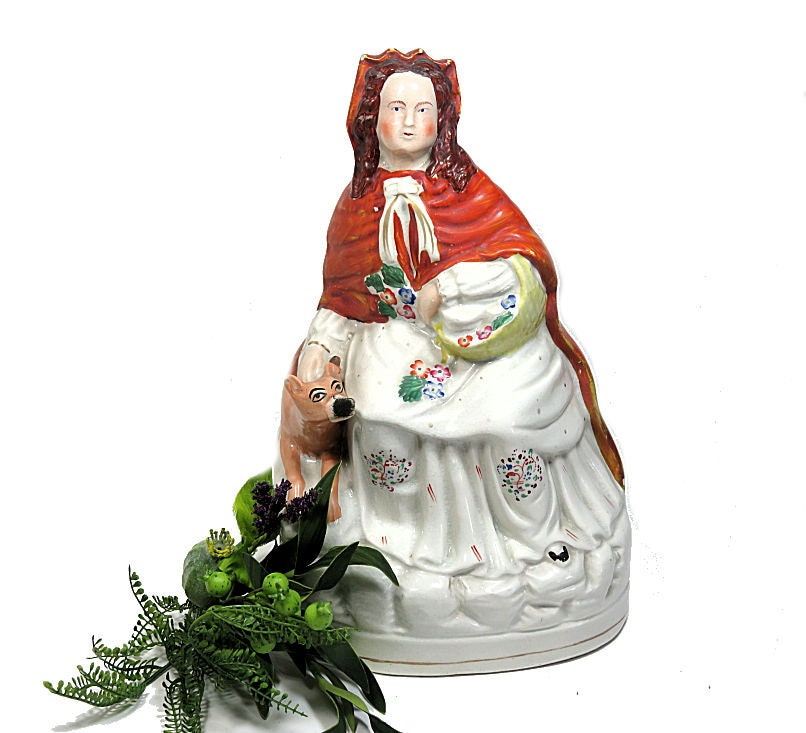 Large,Antique,Staffordshire,Red,Riding,Hood,Figuine,Housewares,Home_Decor,red_riding_hood,staffordshire_figure,riding_hood_wolf,english_riding_hood,folk_tale_figure,19th_c_staffordshire,antique_riding_hood,red_cloak_figure,riding_hood_statue,folk_tale_statue,large_riding_hood,large_staffordshire,red_hood_w