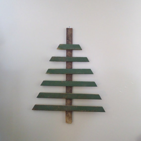 Christmas Tree Pallet Barn Wood Wall Decor Upcycled Recycled Reclaimed Wood Christmas Decor Country Primitive Shabby Cottage Rustic Rts