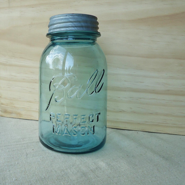 Vintage Blue Canning Jars Aqua Blue Mason Jar With Zinc