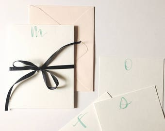 Initial Stationery Notecards Set of 10 With Envelopes